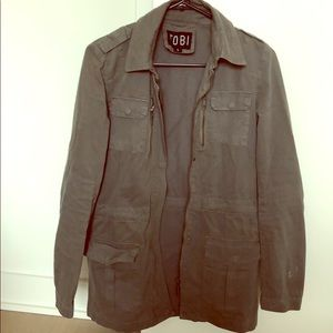 Utility jacket in a grey color
